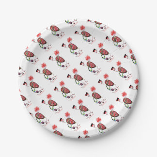 Tony Fernandes's Red Ruby Fab Egg Paper Plate