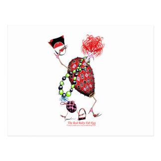 Tony Fernandes's Red Ruby Fab Egg Postcard
