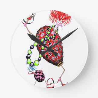 Tony Fernandes's Red Ruby Fab Egg Round Clock