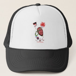 Tony Fernandes's Red Ruby Fab Egg Trucker Hat