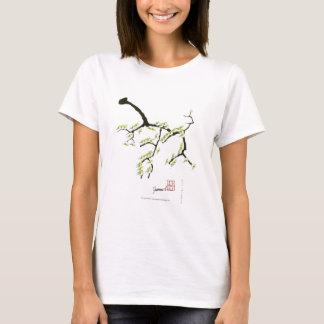 tony fernandes sakura and green birds T-Shirt
