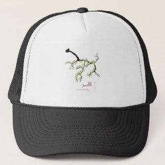 tony fernandes sakura and green birds trucker hat