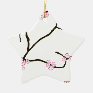 Tony Fernandes Sakura Blossom 1 Ceramic Ornament