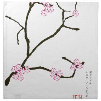 Tony Fernandes Sakura Blossom 1 Napkin