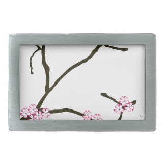Tony Fernandes Sakura Blossom 1 Rectangular Belt Buckle