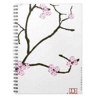 Tony Fernandes Sakura Blossom 1 Spiral Notebook