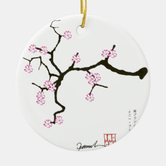 Tony Fernandes Sakura Blossom 2 Ceramic Ornament