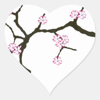 Tony Fernandes Sakura Blossom 2 Heart Sticker