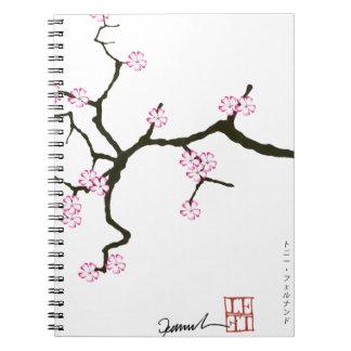 Tony Fernandes Sakura Blossom 2 Spiral Notebook