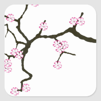Tony Fernandes Sakura Blossom 2 Square Sticker