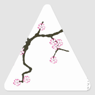 Tony Fernandes Sakura Blossom 2 Triangle Sticker