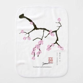 Tony Fernandes Sakura Blossom 3 Burp Cloth