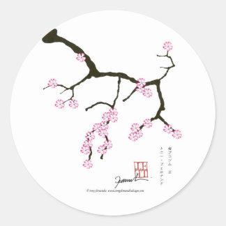 Tony Fernandes Sakura Blossom 3 Classic Round Sticker