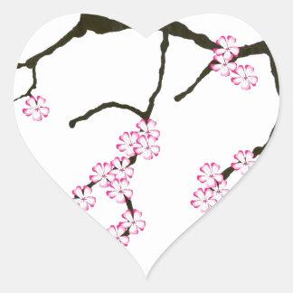 Tony Fernandes Sakura Blossom 3 Heart Sticker