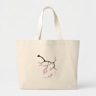 Tony Fernandes Sakura Blossom 3 Large Tote Bag
