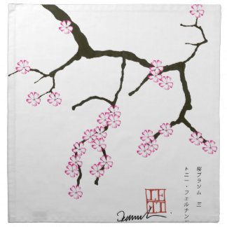 Tony Fernandes Sakura Blossom 3 Napkin