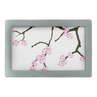 Tony Fernandes Sakura Blossom 3 Rectangular Belt Buckle