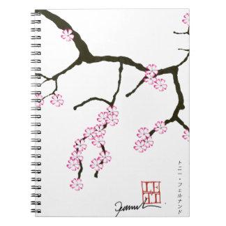 Tony Fernandes Sakura Blossom 3 Spiral Notebooks