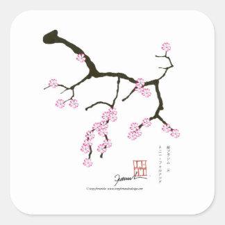 Tony Fernandes Sakura Blossom 3 Square Sticker