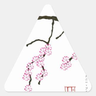 Tony Fernandes Sakura Blossom 3 Triangle Sticker