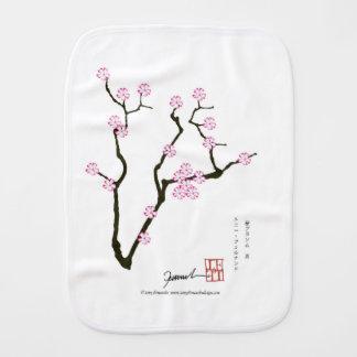 Tony Fernandes Sakura Blossom 5 Burp Cloth