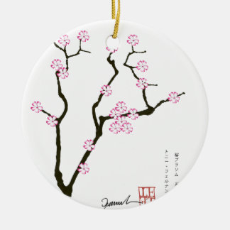 Tony Fernandes Sakura Blossom 5 Ceramic Ornament