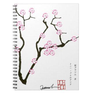 Tony Fernandes Sakura Blossom 5 Spiral Notebook