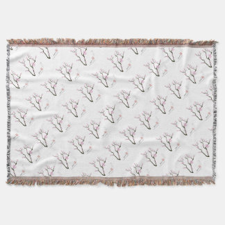 Tony Fernandes Sakura Blossom 5 Throw Blanket
