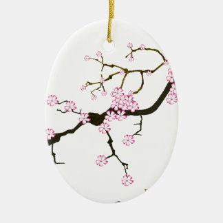 Tony Fernandes Sakura Blossom 6 Ceramic Ornament