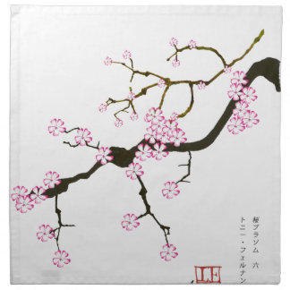 Tony Fernandes Sakura Blossom 6 Napkin
