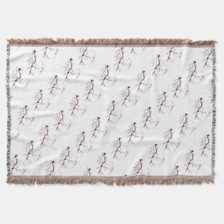 Tony Fernandes Sakura Blossom 6 Throw Blanket