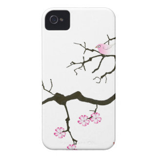 tony fernandes sakura blossom and pink bird Case-Mate iPhone 4 case