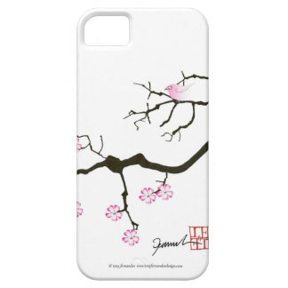 tony fernandes sakura blossom and pink bird iPhone 5 cover