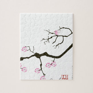 tony fernandes sakura blossom and pink bird jigsaw puzzle