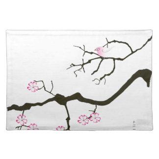 tony fernandes sakura blossom and pink bird placemat