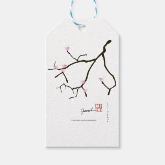 tony fernandes sakura with 7 pink birds 2 gift tags