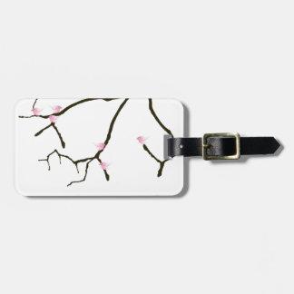 tony fernandes sakura with 7 pink birds 2 luggage tag