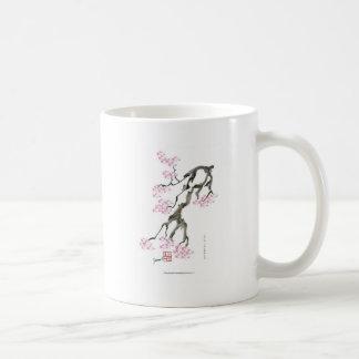 tony fernandes sakura with pink goldfish coffee mug