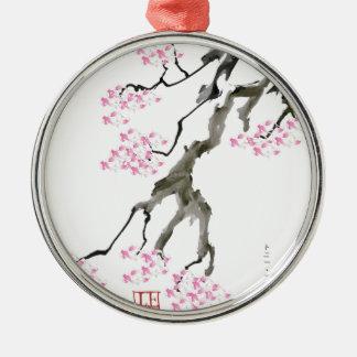tony fernandes sakura with pink goldfish metal ornament