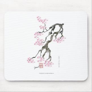 tony fernandes sakura with pink goldfish mouse pad