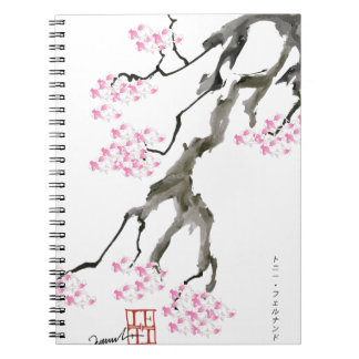 tony fernandes sakura with pink goldfish notebooks