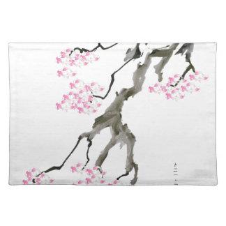 tony fernandes sakura with pink goldfish placemat