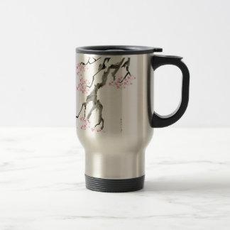 tony fernandes sakura with pink goldfish travel mug
