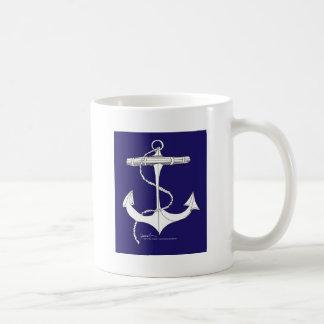 tony fernandes's anchor dark blue coffee mug