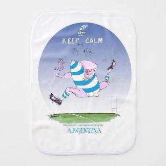 tony fernandes's argentina forward baby burp cloth