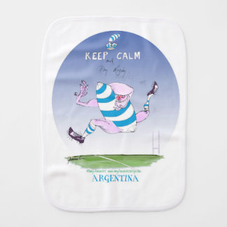 tony fernandes's argentina forward burp cloth