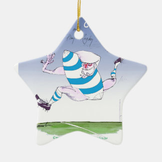 tony fernandes's argentina forward ceramic ornament