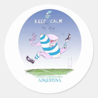tony fernandes's argentina forward classic round sticker