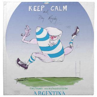 tony fernandes's argentina forward napkin