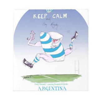 tony fernandes's argentina forward notepad